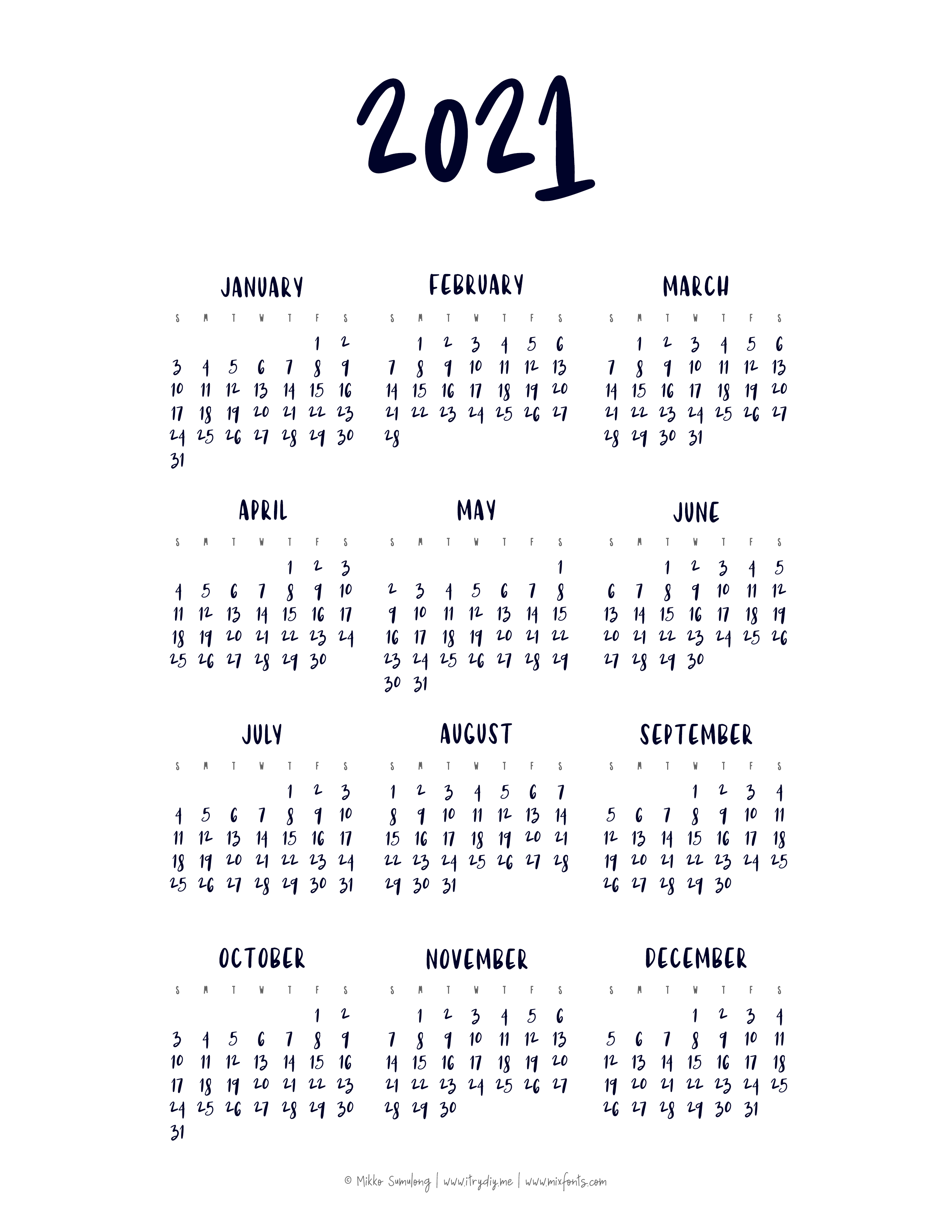 Mikko Sumulong | Are we ready for a 2021 Calendar?